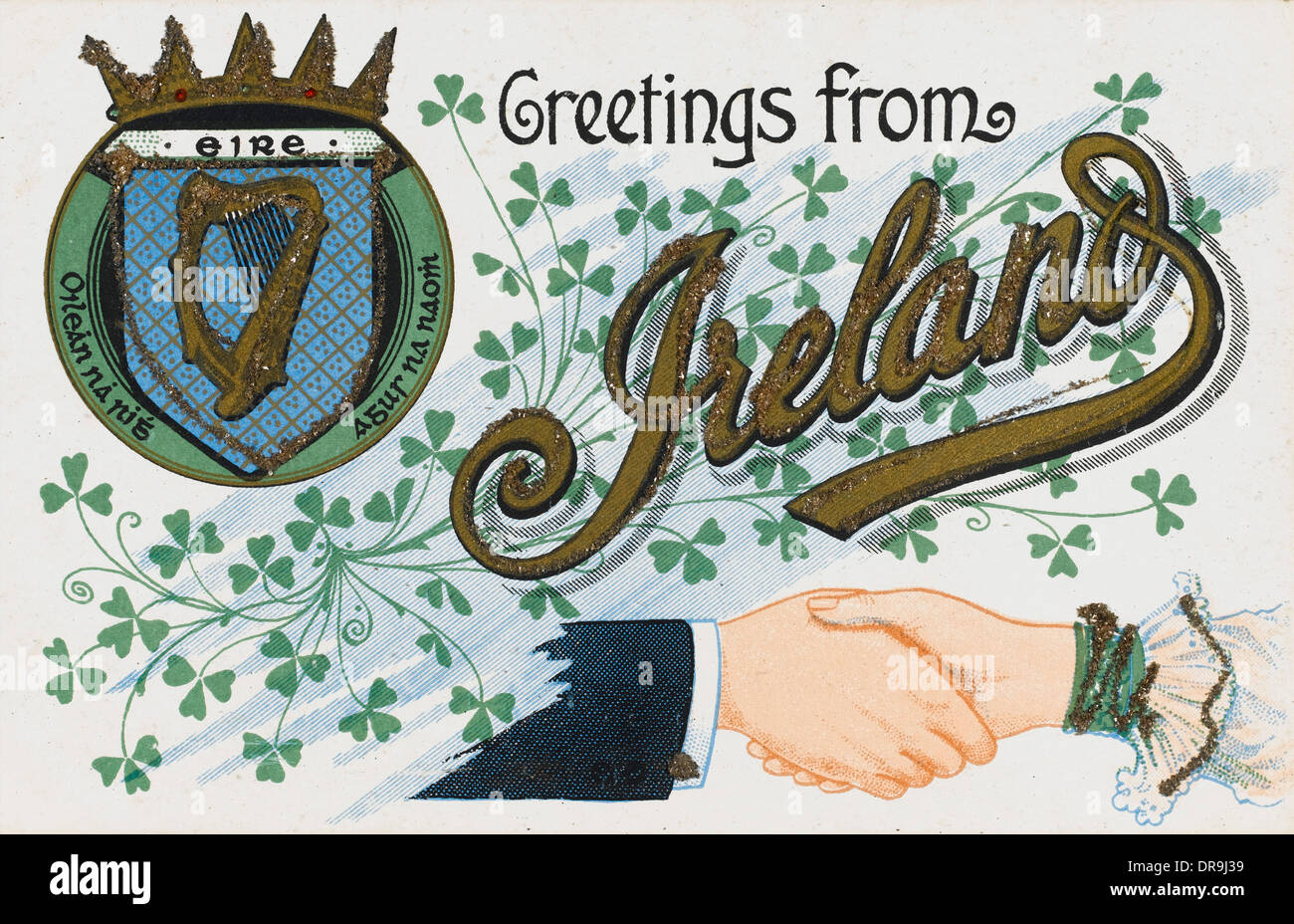 Greeting From Ireland Postcard Stock Photo 65979965 Alamy