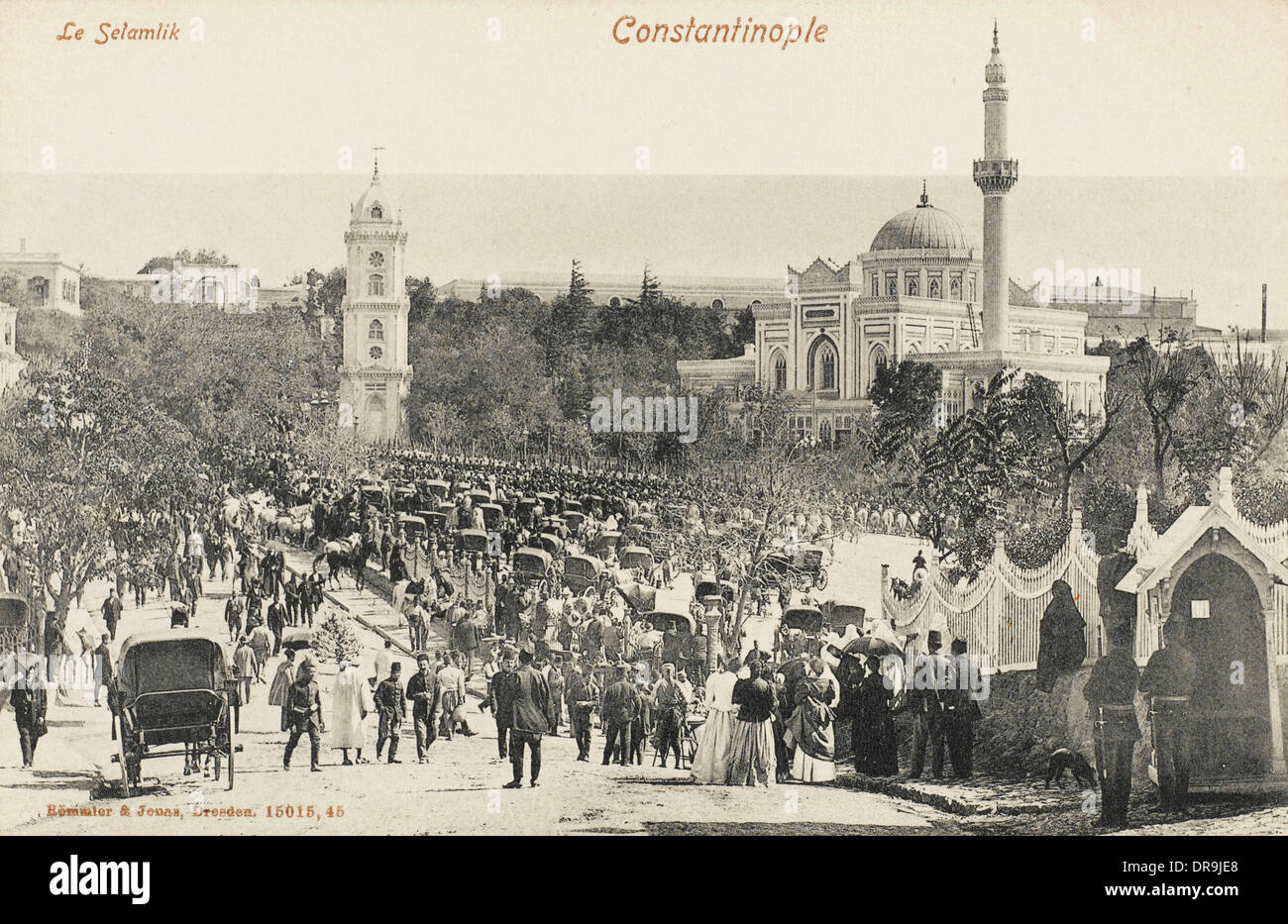 The Procession to the Friday Noon Prayers - Stock Image