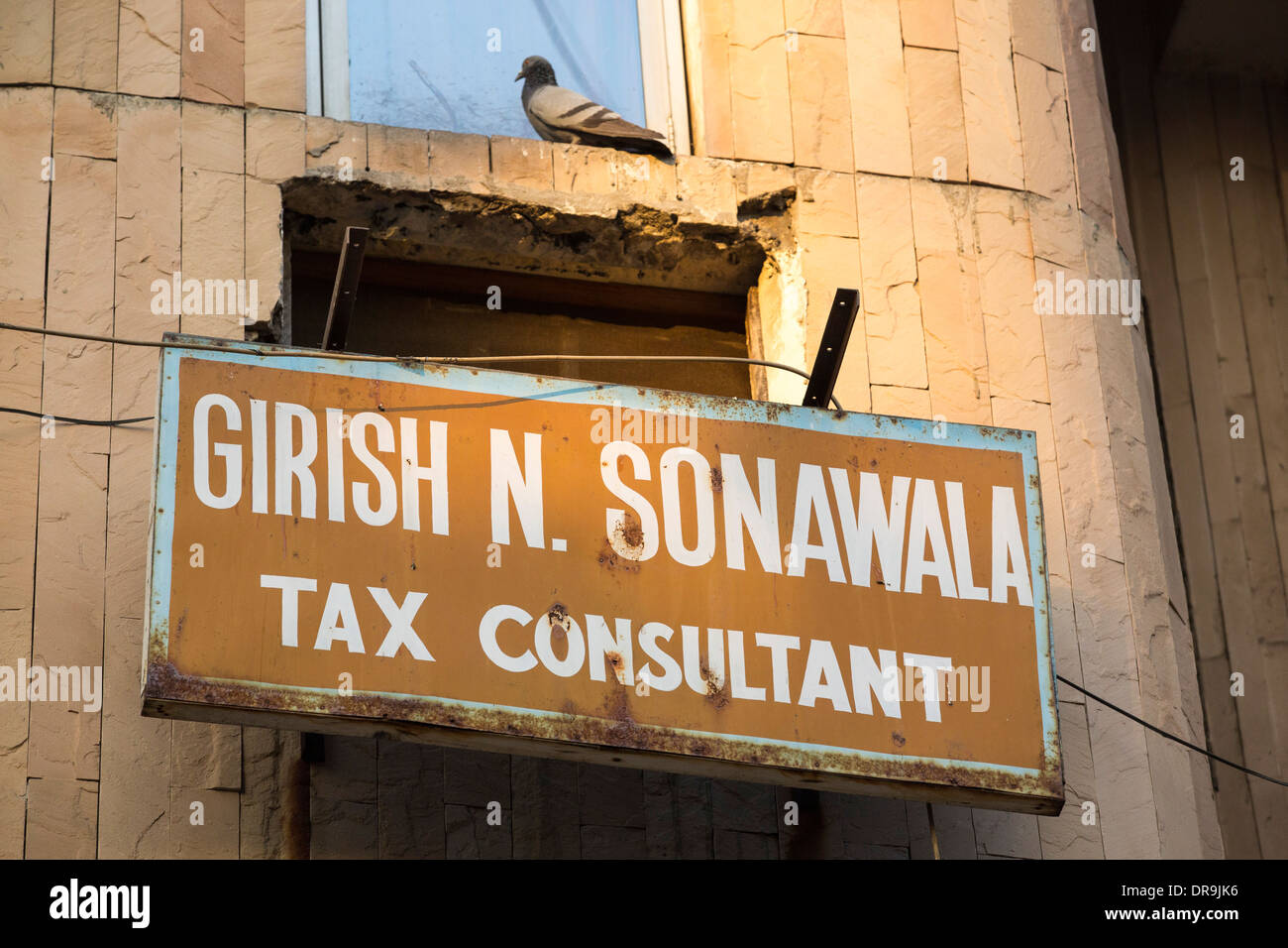 A tax consultant in Ahmedabad; India; - Stock Image