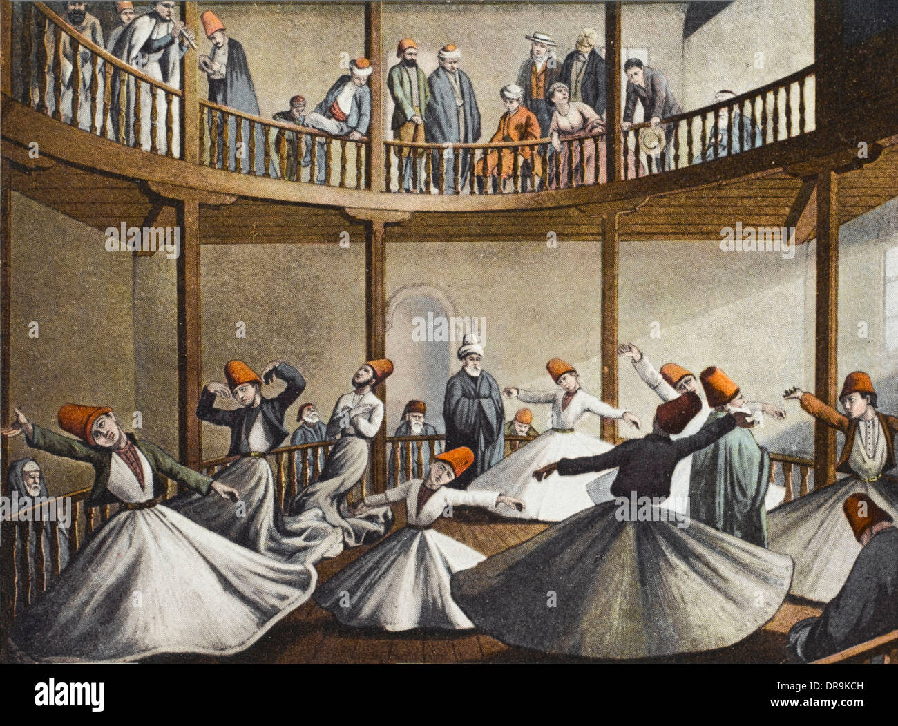 Mevlevi Dervishes - The Sema (Constantinople) - Stock Image