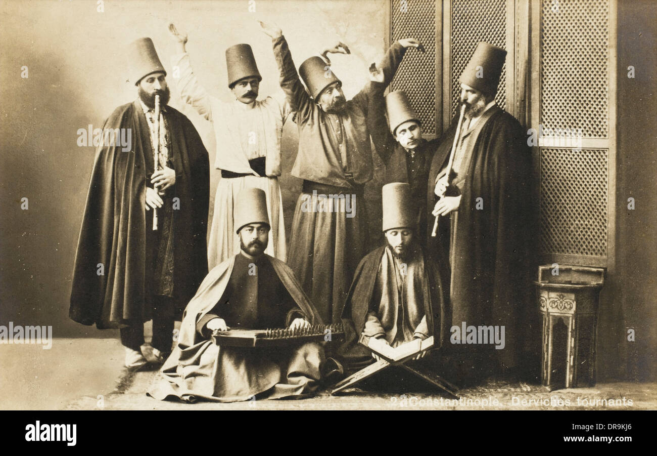 Constantinople - Whirling Dervish Group - Stock Image