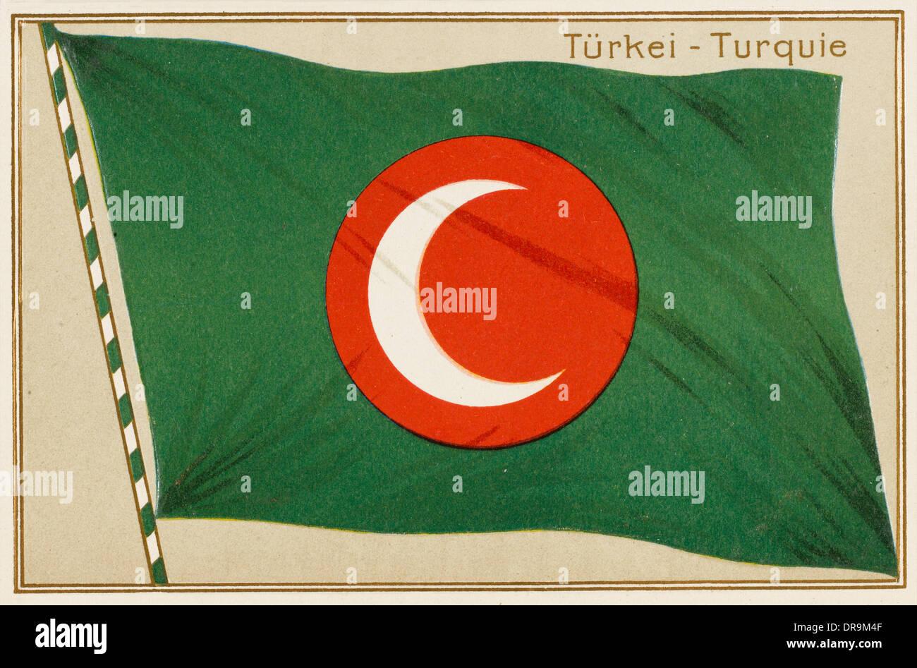 Ottoman Empire Flag - Stock Image