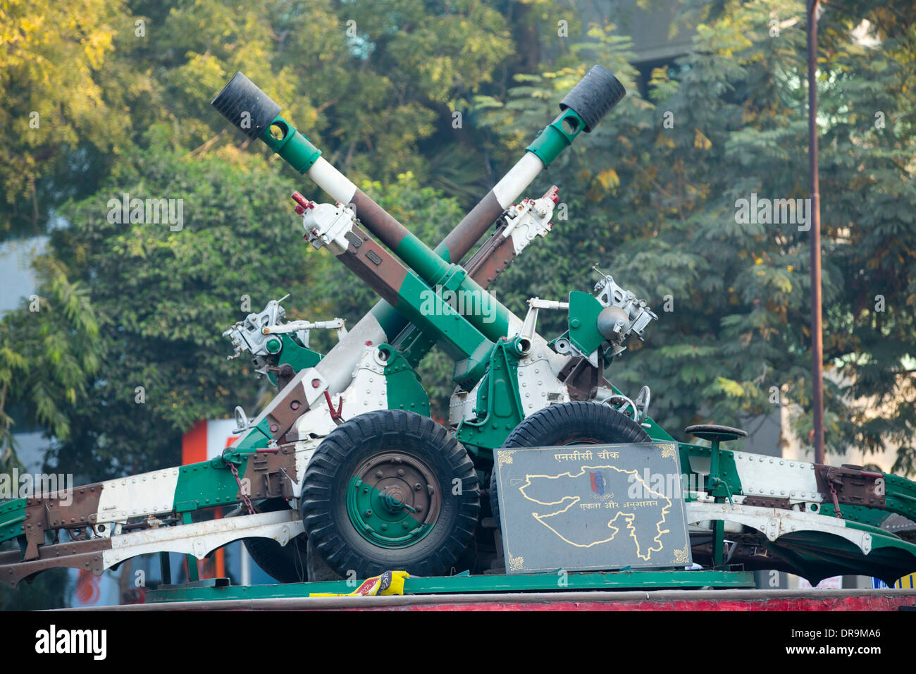 Indian army artillery in Ahmedabad; India; - Stock Image