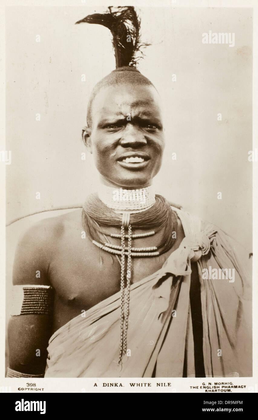 Dinka Man - Sudan, Africa - Stock Image