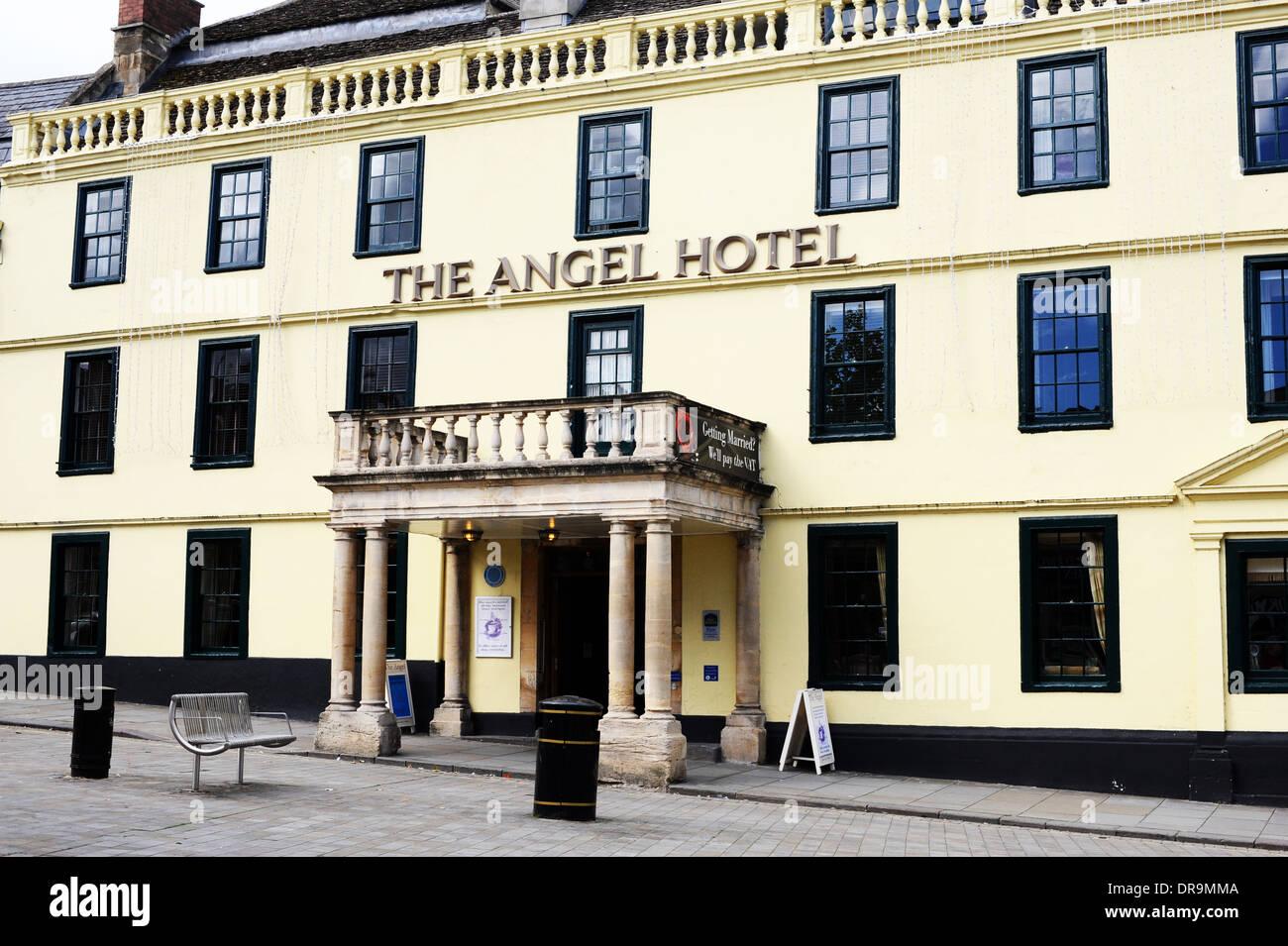 The Angel Hotel in Chippenham, UK. - Stock Image