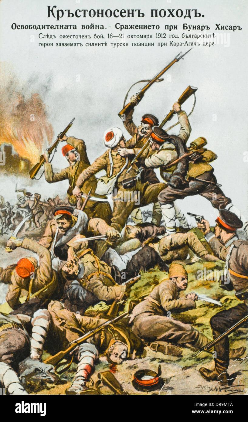 First Balkan War (1912 - 1913) - Battle of Bonarchisni - Stock Image