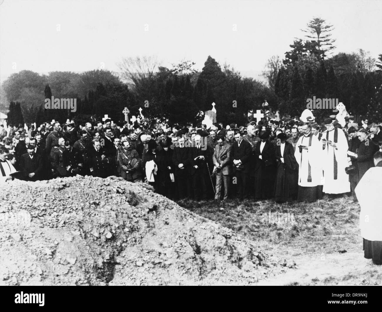 Funeral for victims of the First World War - Stock Image