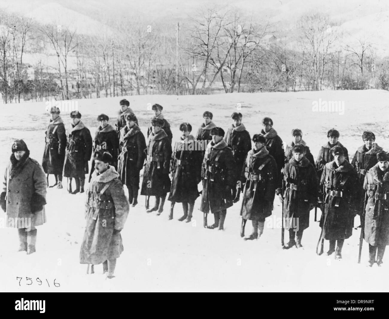 9th Battalion Hampshire Regiment in Siberia - Stock Image