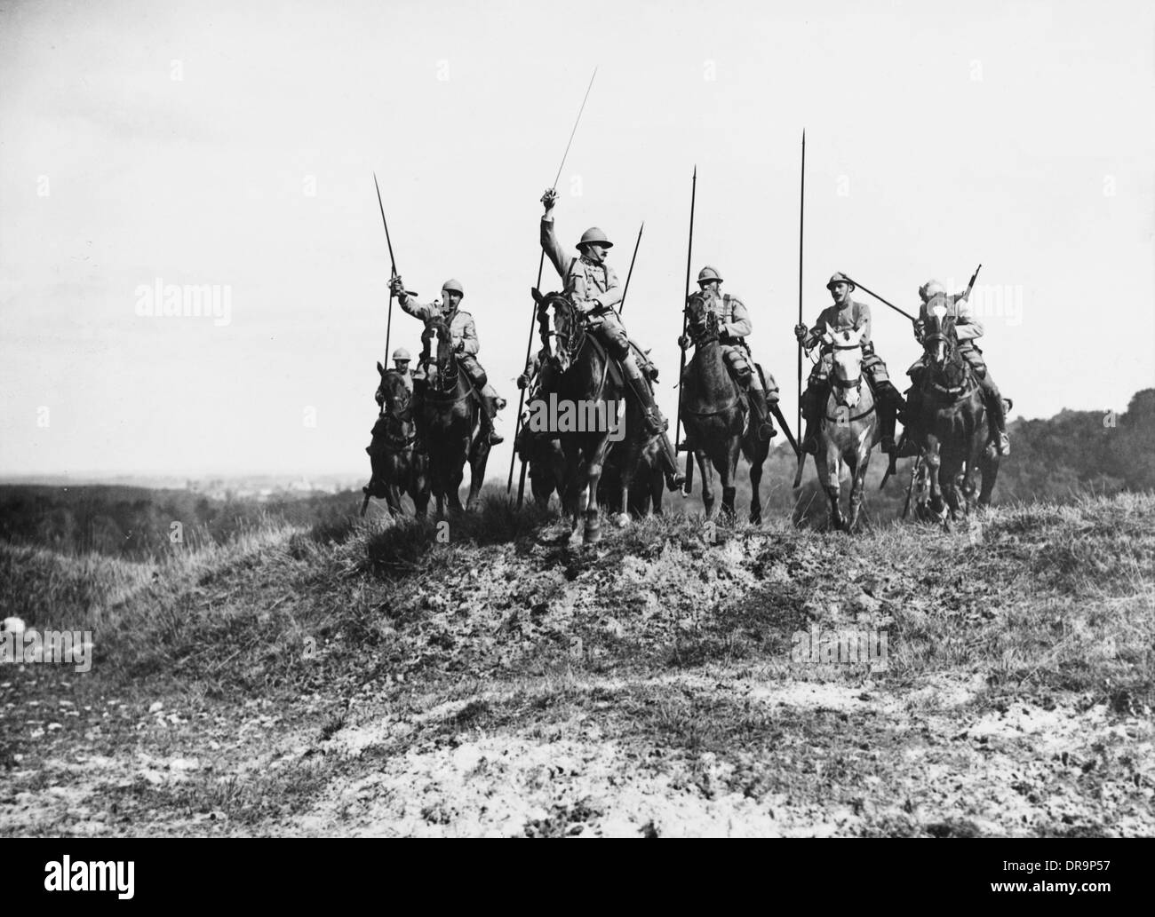 French cavalry 1916 - Stock Image