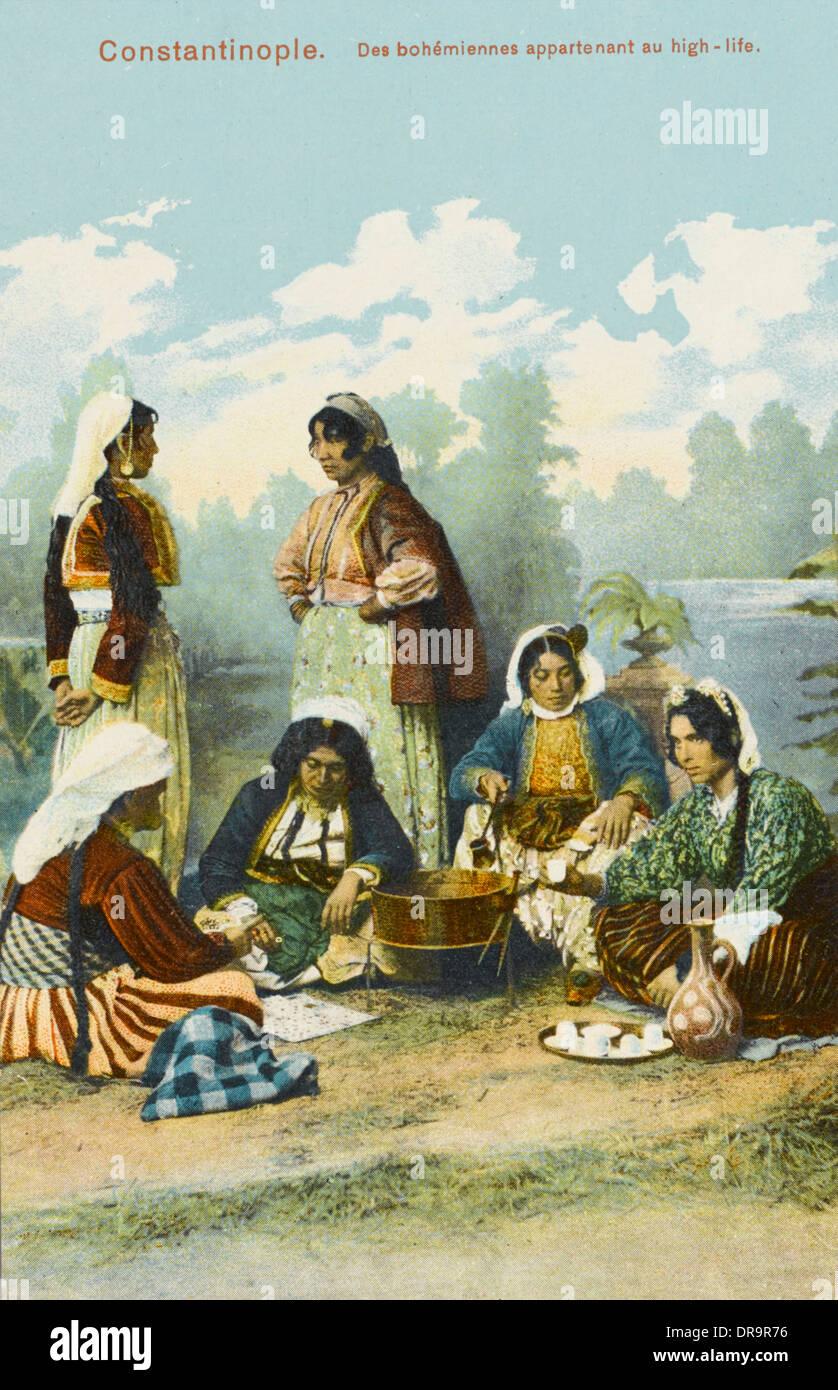 Bohemian Women enjoying the high life - Stock Image