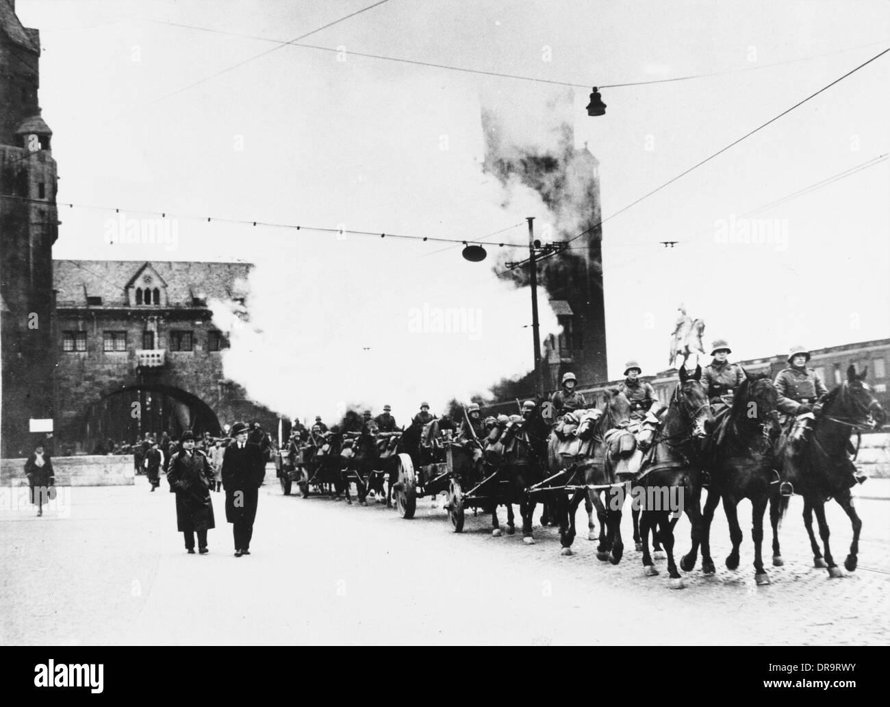 German artillery, 1936 - Stock Image