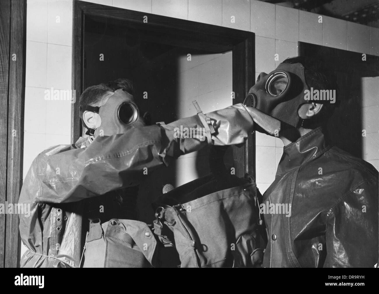 Decontamination Drill, World War II - Stock Image