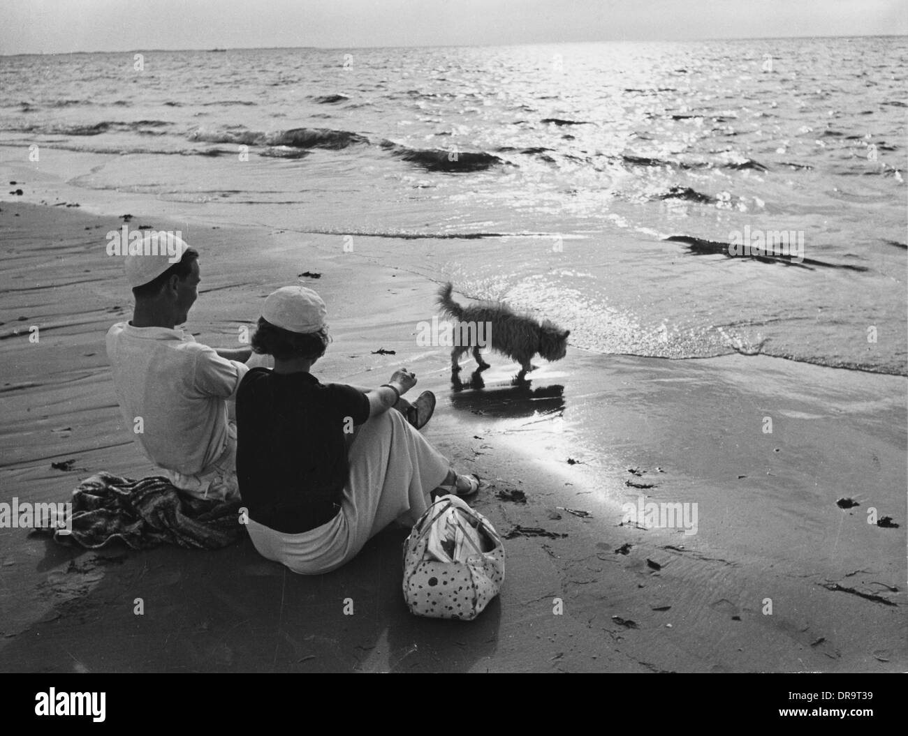 German beach holiday 1930s - Stock Image