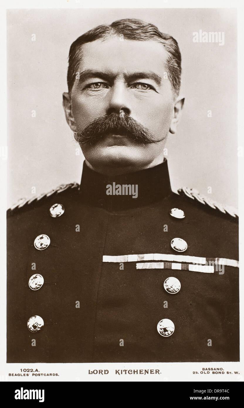 Field Marshal Horatio Herbert Kitchener - Stock Image