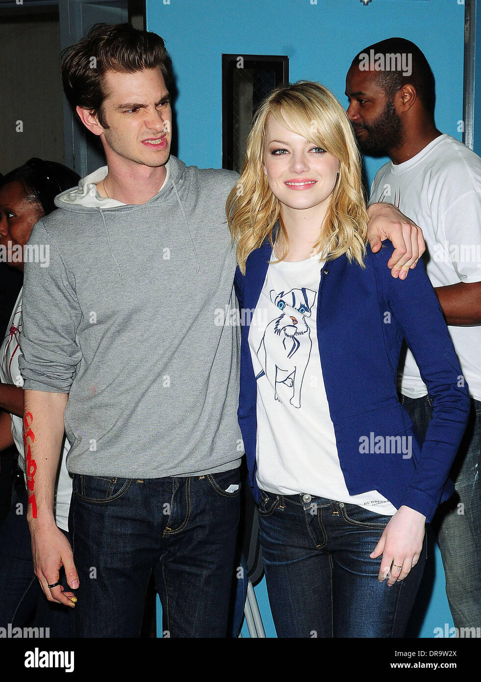 Andrew Garfield, Emma Stone The cast of 'The Amazing Spider