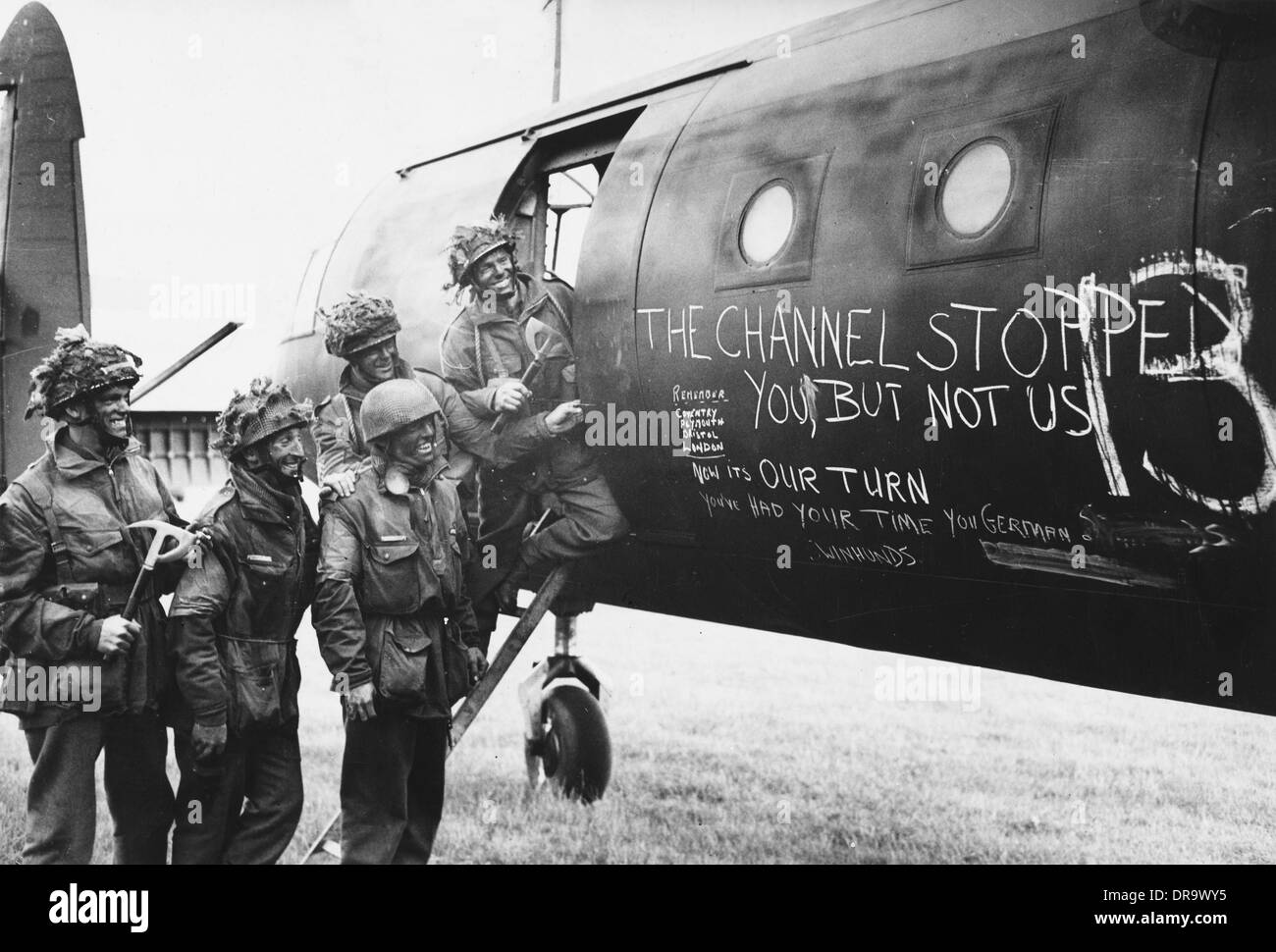 D-Day - Glider reinforcement team - Stock Image