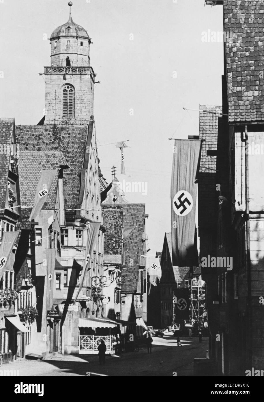 Nazi Flags - Stock Image