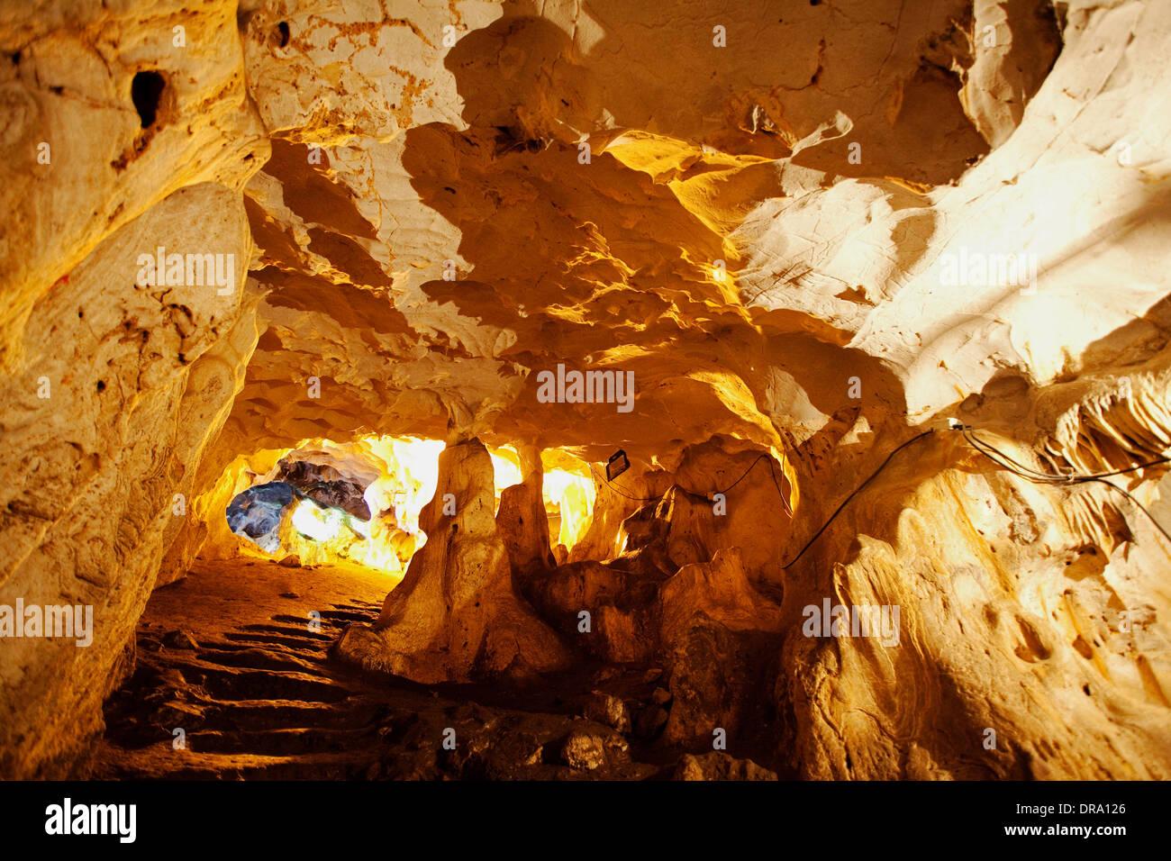 Prehistoric Karain Cave Antalya - Stock Image