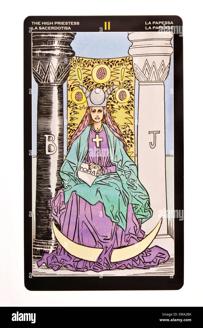 tarot card Priestess - Stock Image