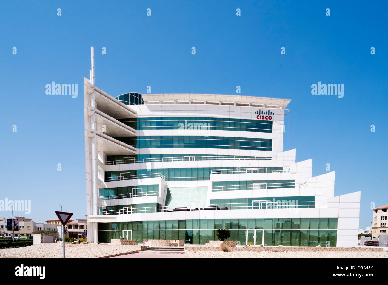 Cisco Systems office building at Dubai Internet City in United Arab Emirates UAE - Stock Image