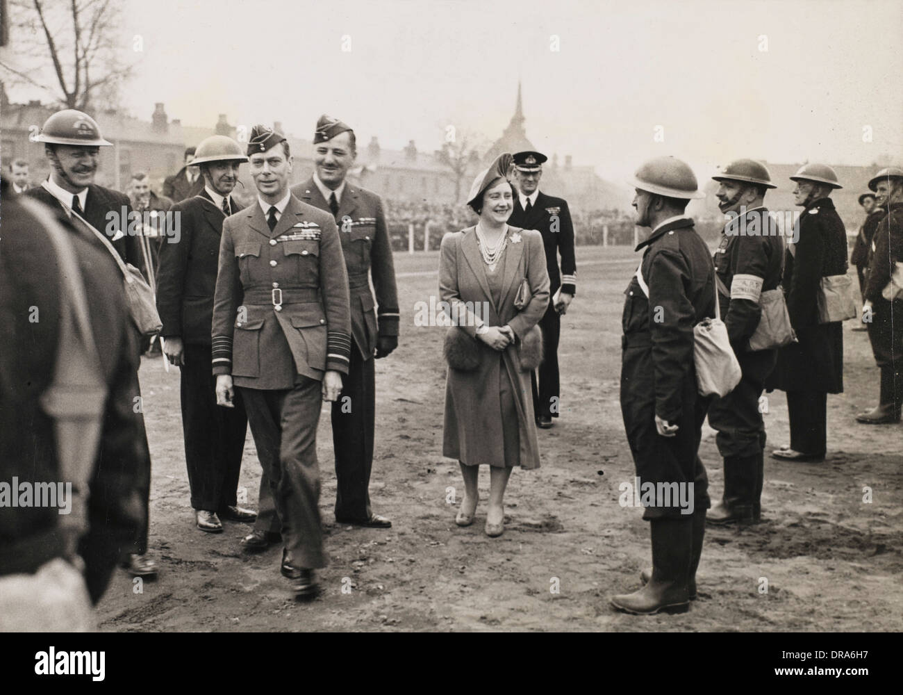 Royal visit to ammunition factory - Stock Image