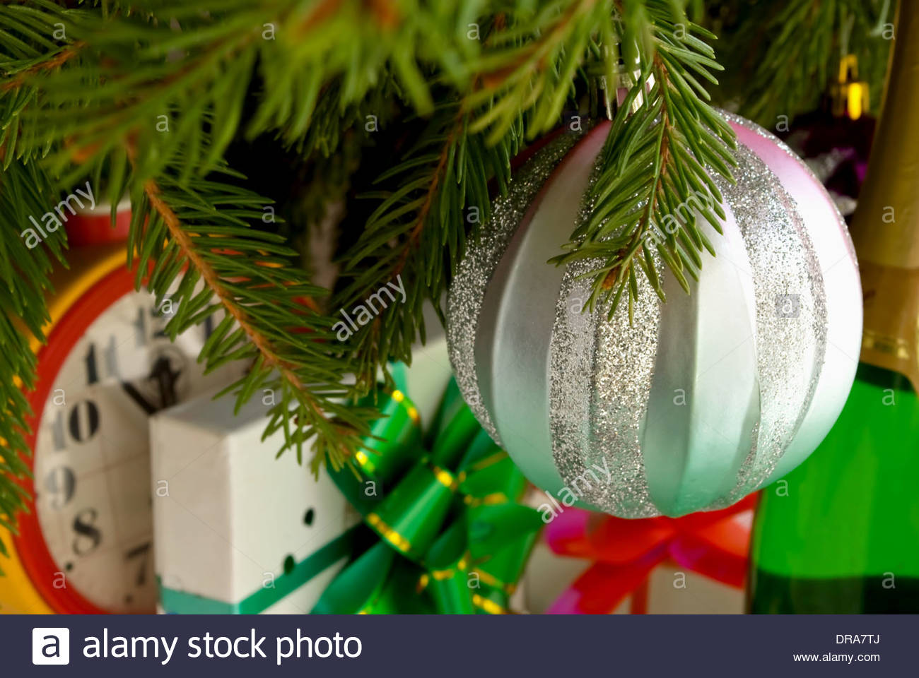 New year cristmas champaign - Stock Image