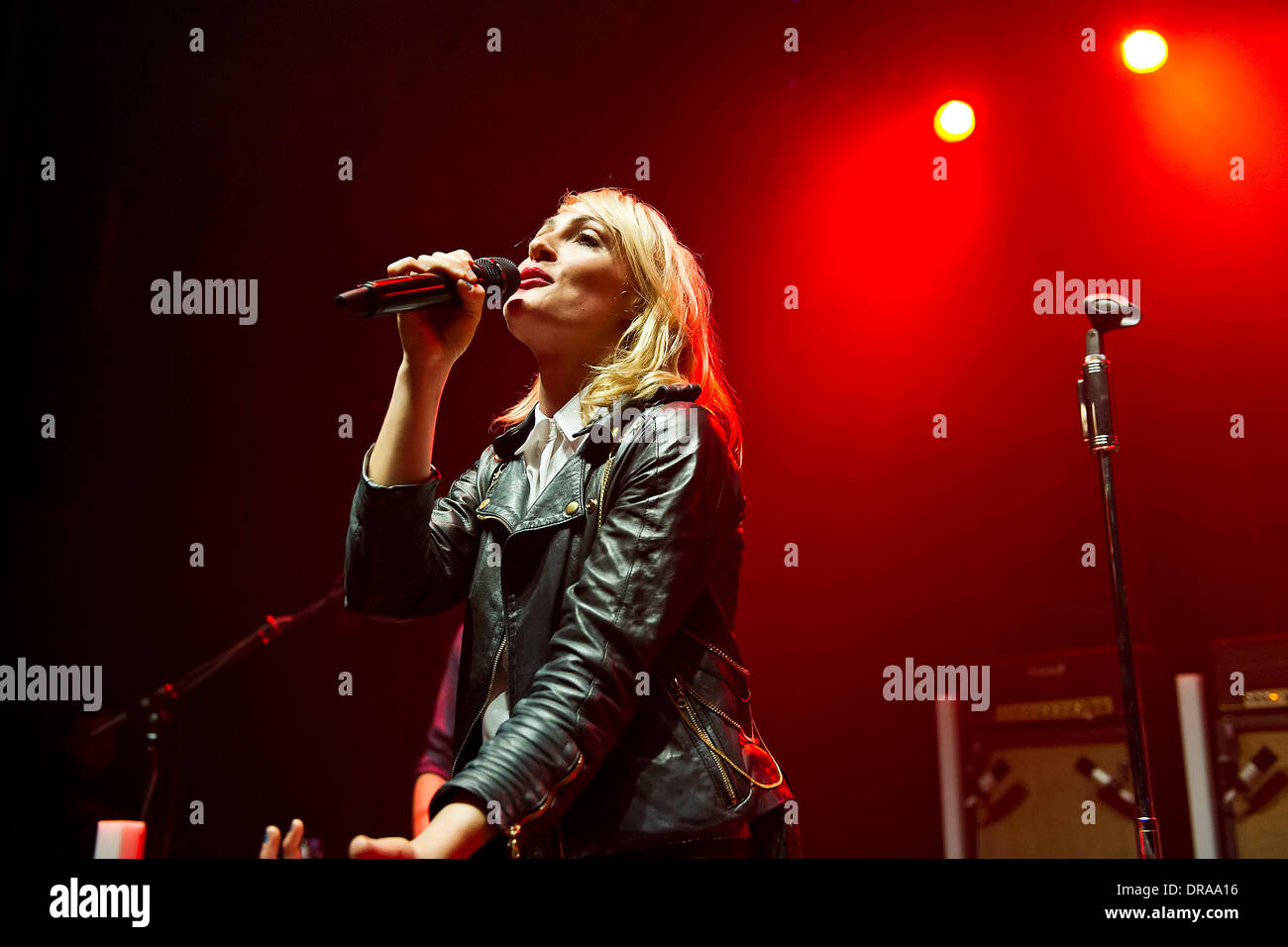 Emily Haines of indie rock band Metric performing live at Shepherds Bush Empire London, England - 02.07.12 - Stock Image