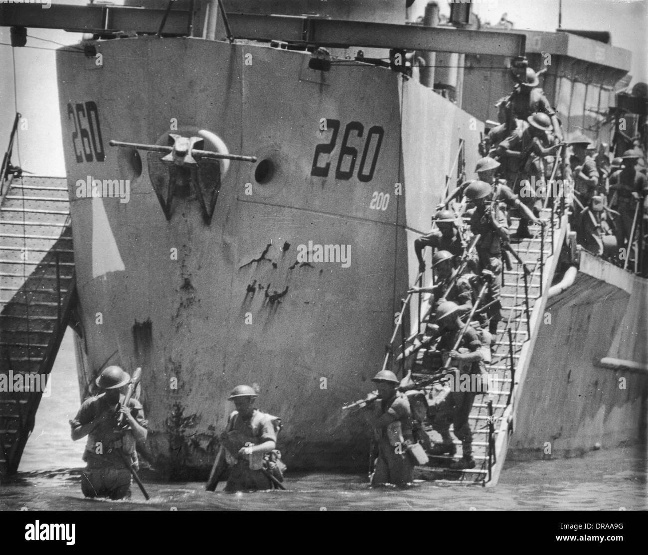 Invasion of Sicily - - Stock Image