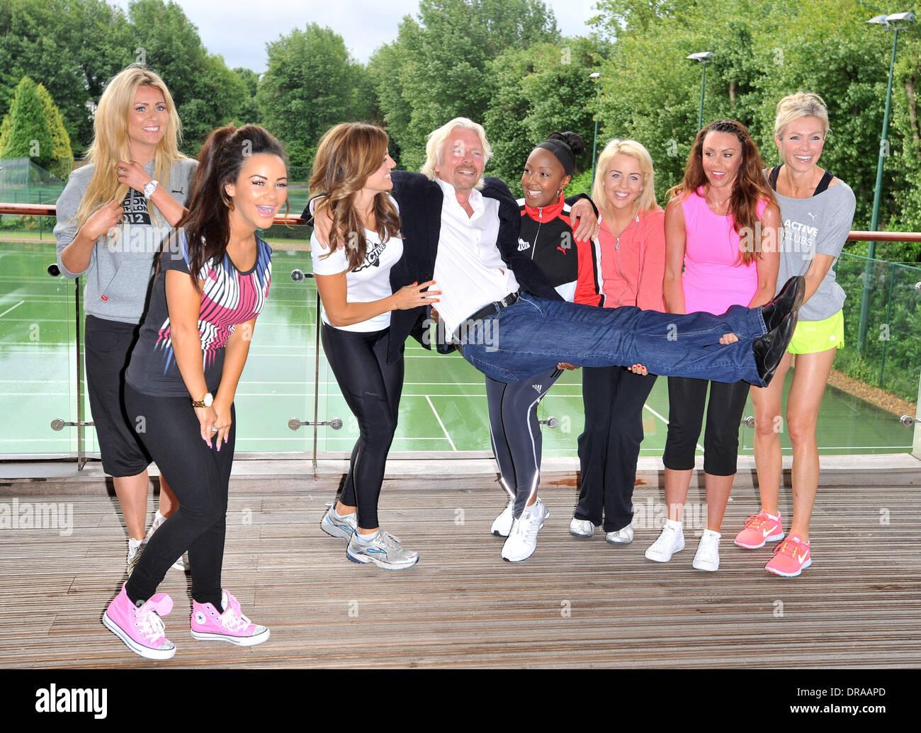Sir Richard Branson, Amy Guy, Lydia Bright, Hayley McQueen, Chelsee Healey,