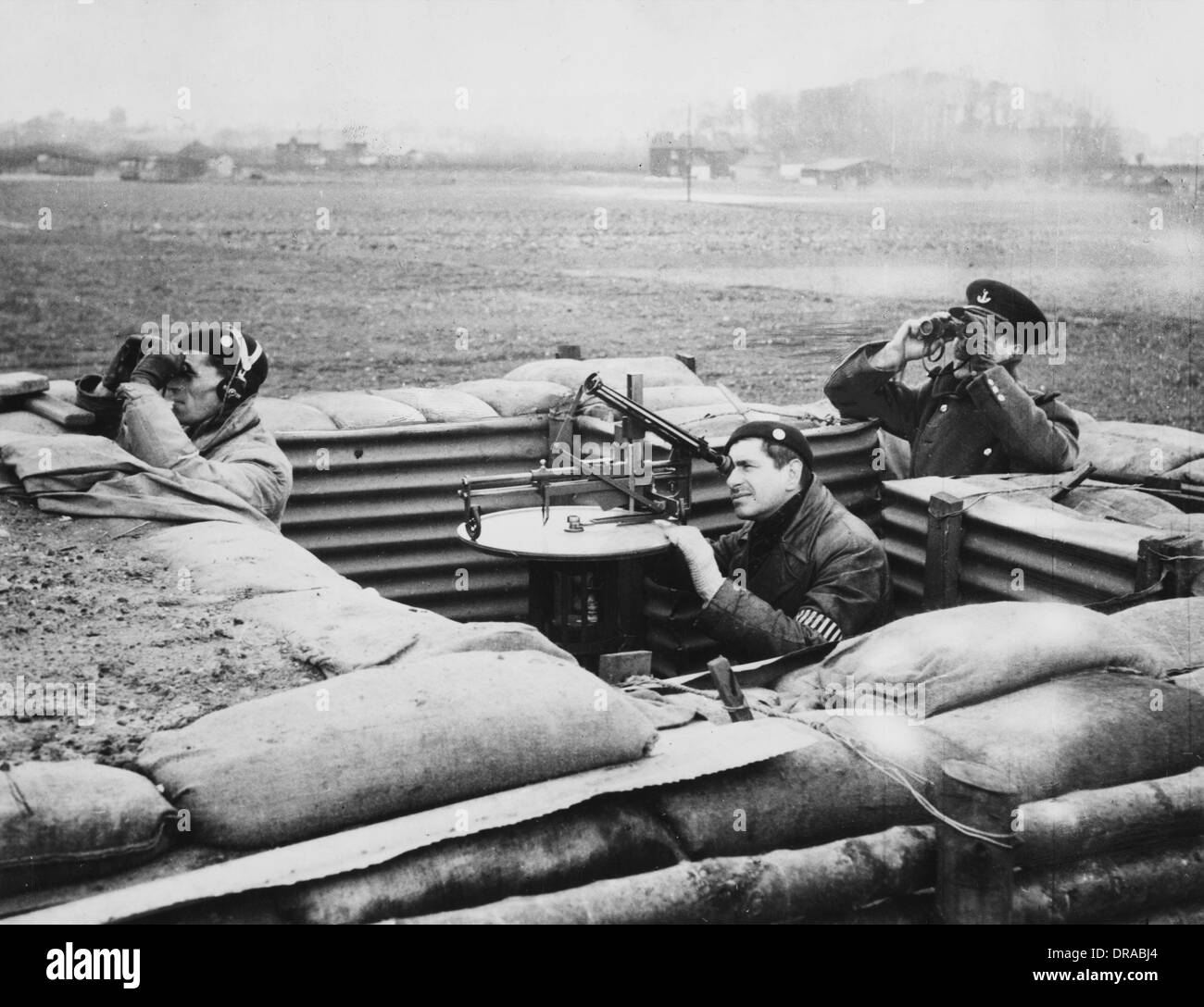 Aircraft Observer Post, WWII - Stock Image