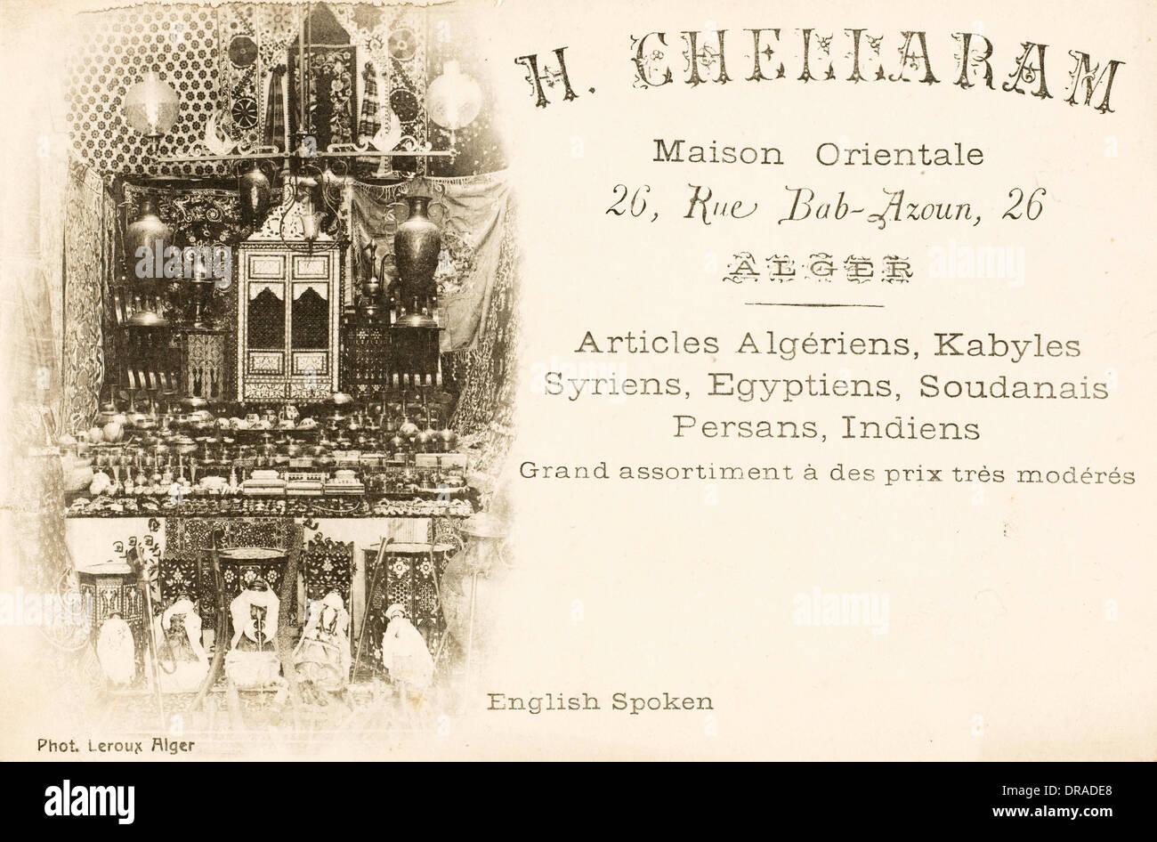 Arabian Merchant - promotional card - Stock Image