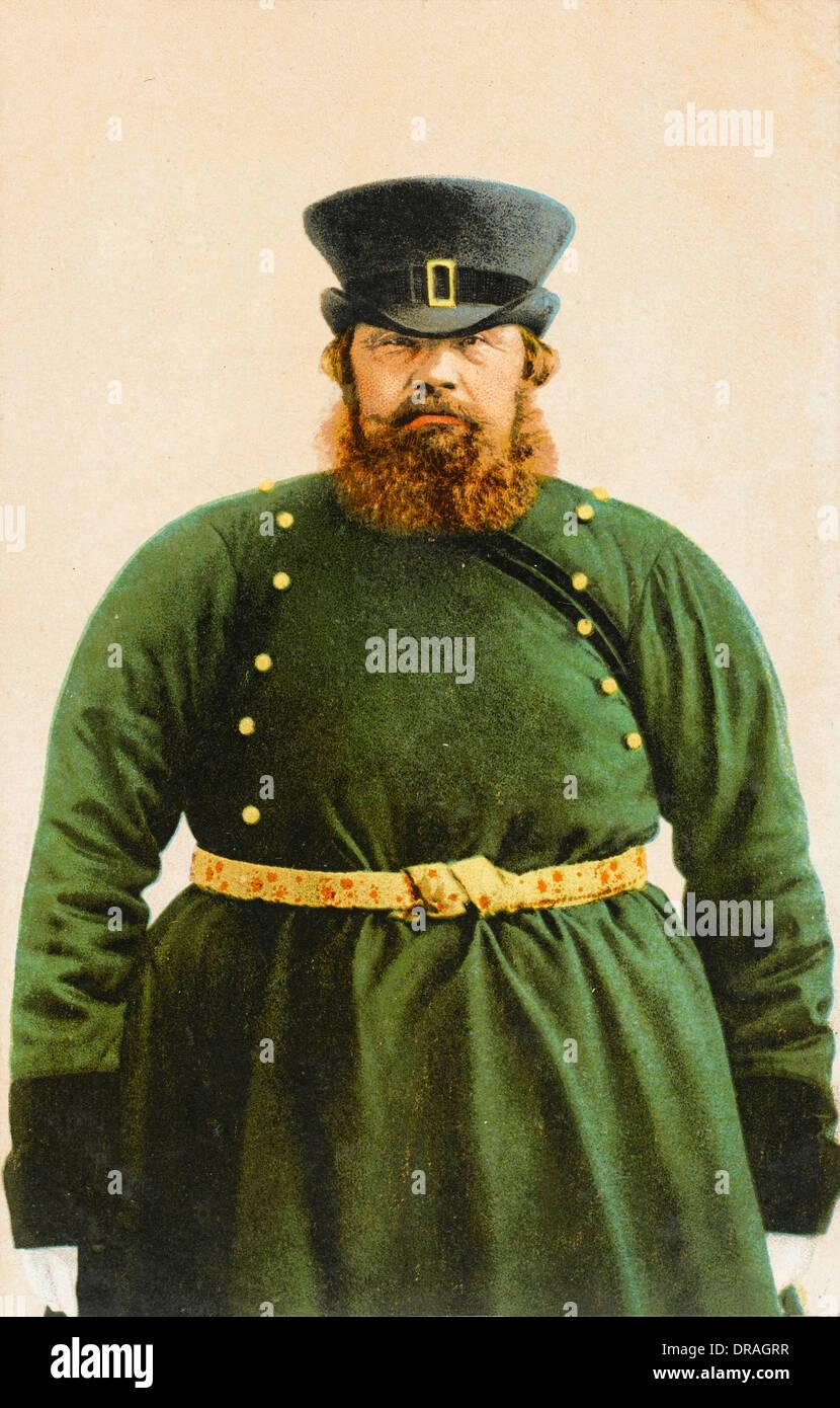 Russian coachman - Stock Image