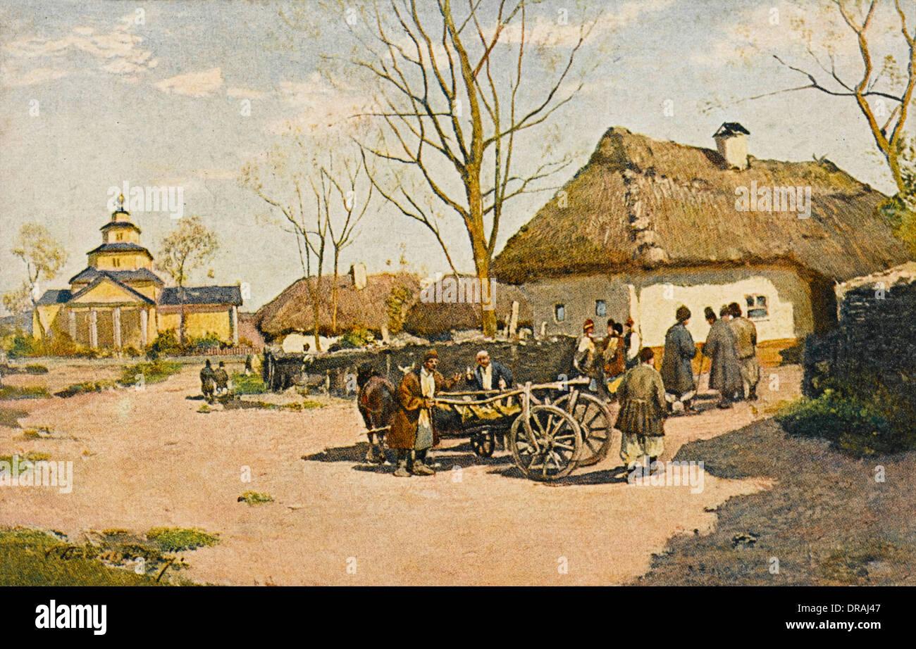Ukrainian village fete - Stock Image