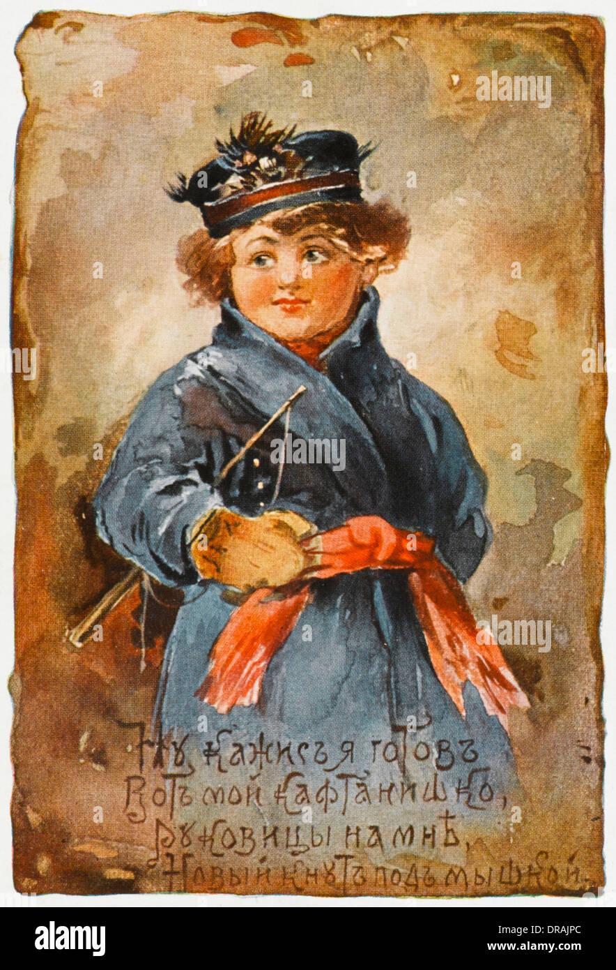 Little Russian coachman - Stock Image