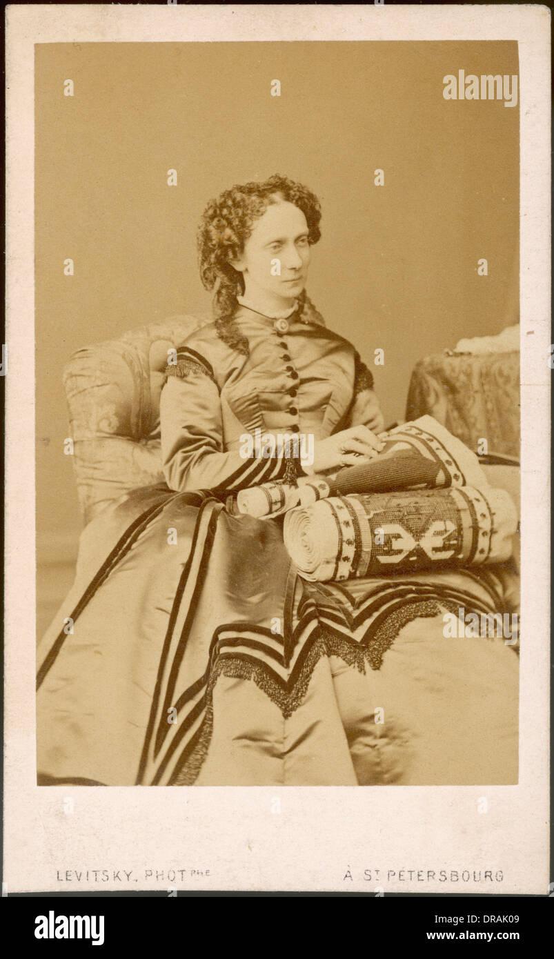 Maria Alexandrovna, Empress Consort of Russia - Stock Image