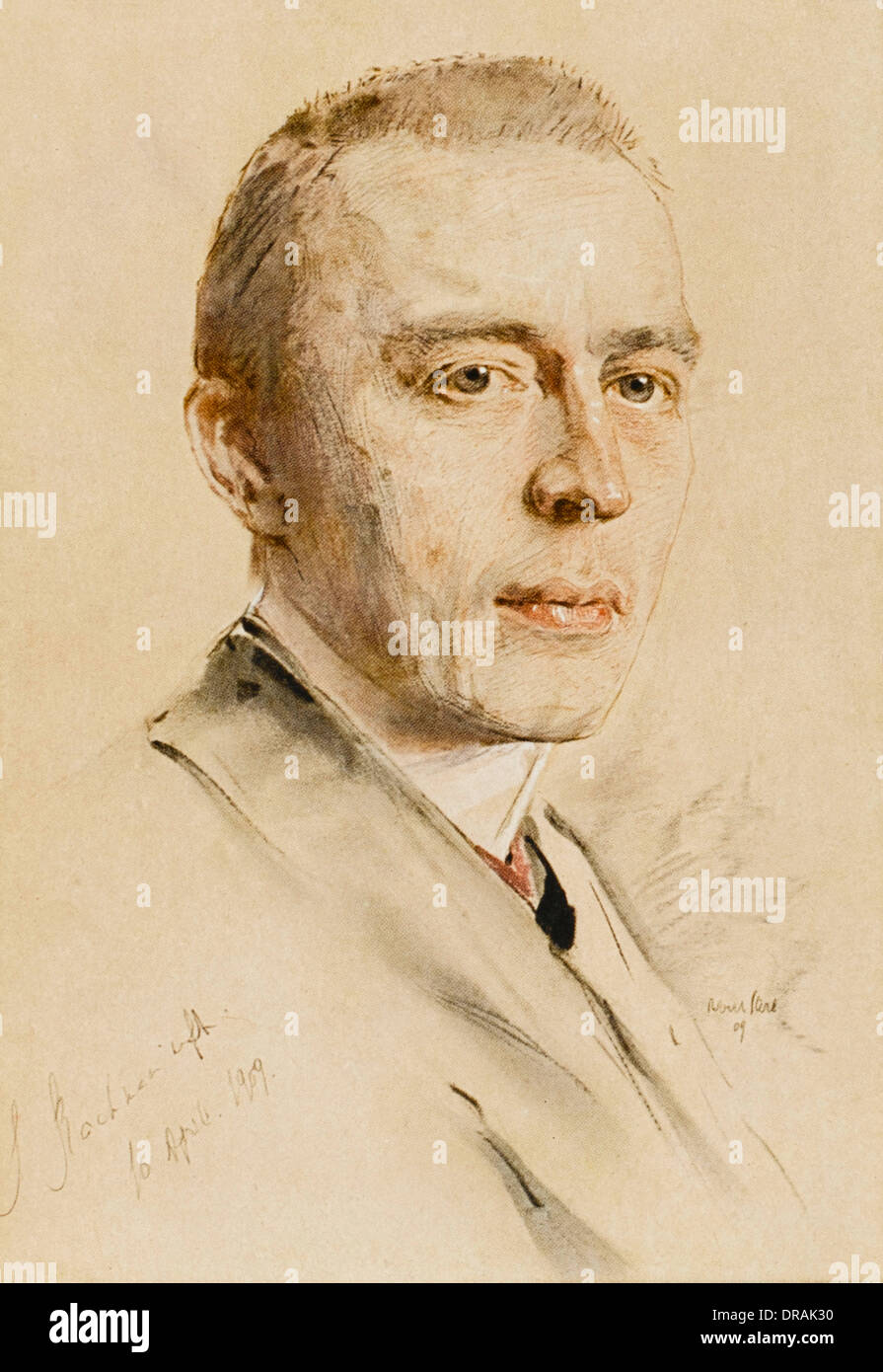 Sergei Vasilievich Rachmaninov - Stock Image