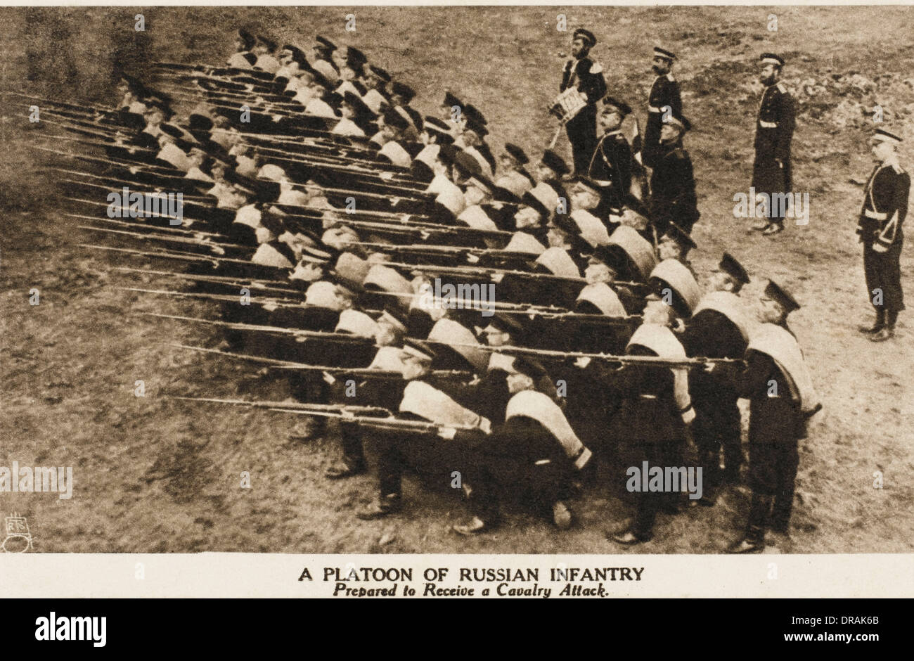 Russian infantry during World War One - Stock Image