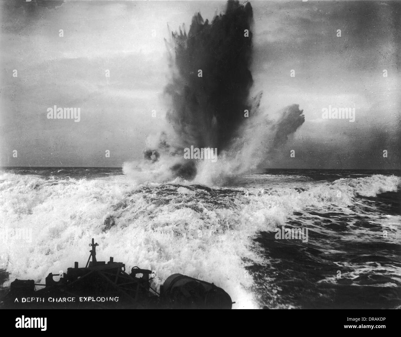 A Depth Charge Exploding - Stock Image