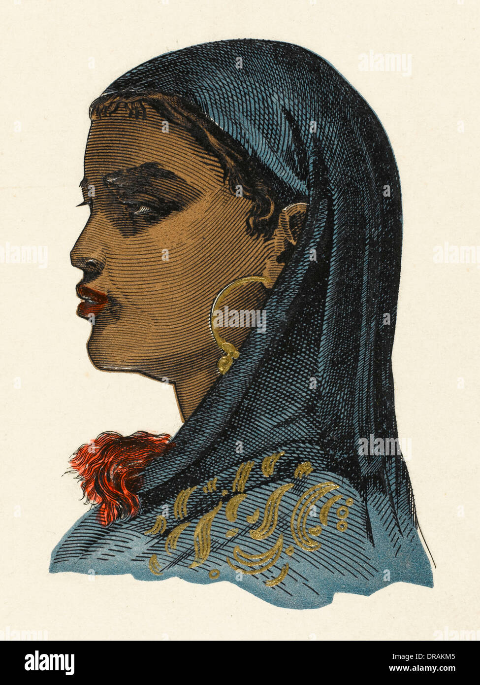 Southern Egyptian Girl - Stock Image