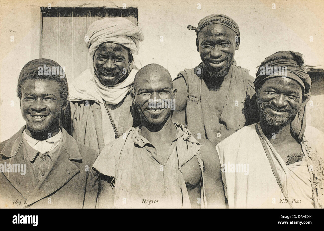 Five Jolly Africans from Algeria - Stock Image