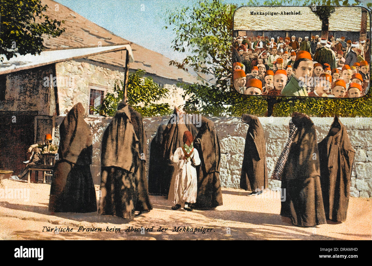 Women departing on Pilgrimage - Stock Image