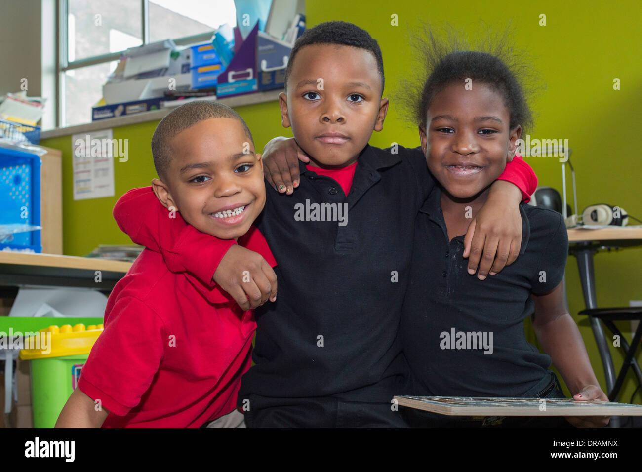 Kindergarten students - Stock Image
