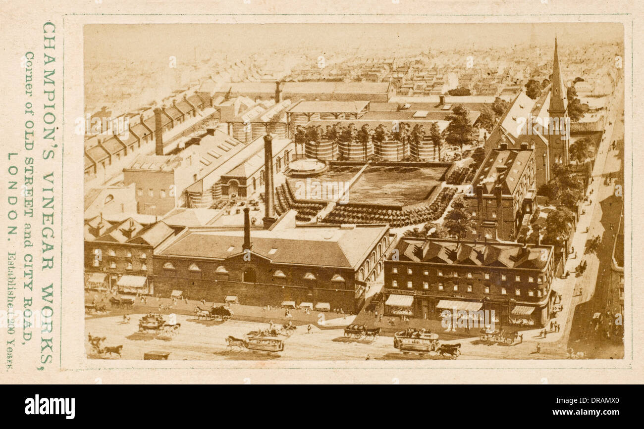 Champion's Vinegar Works, London - Stock Image