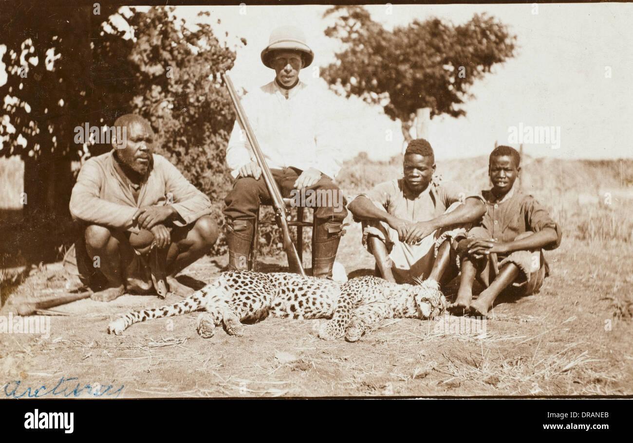 Rhodesia - Zimbabwe - Cheetah Hunting - Stock Image