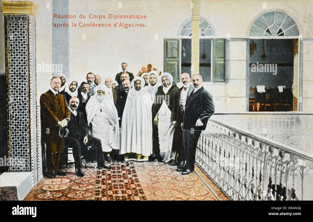 Morocco - Reunion of the Diplomatic Corps - Stock Image