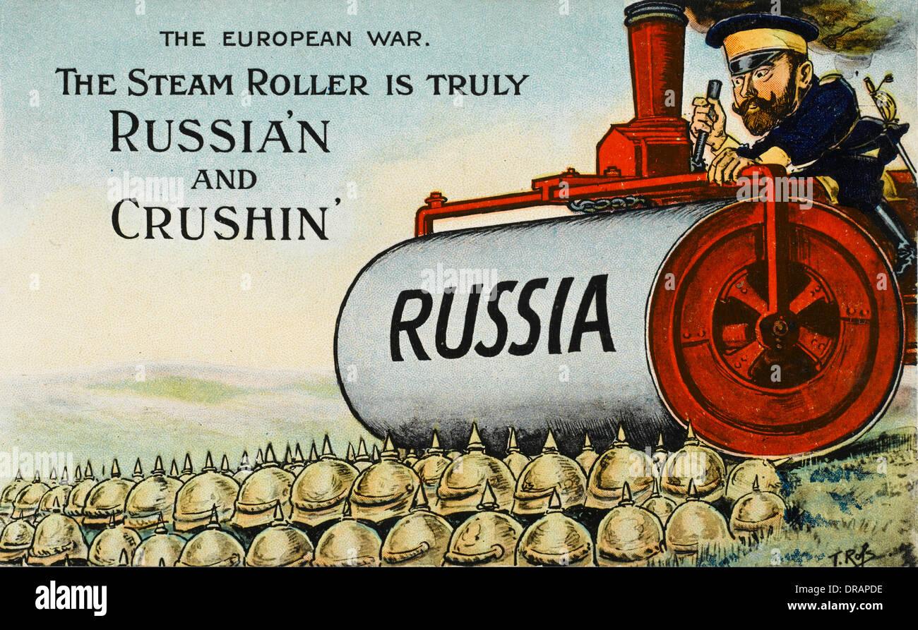 British cartoon satirising the First World War - Stock Image