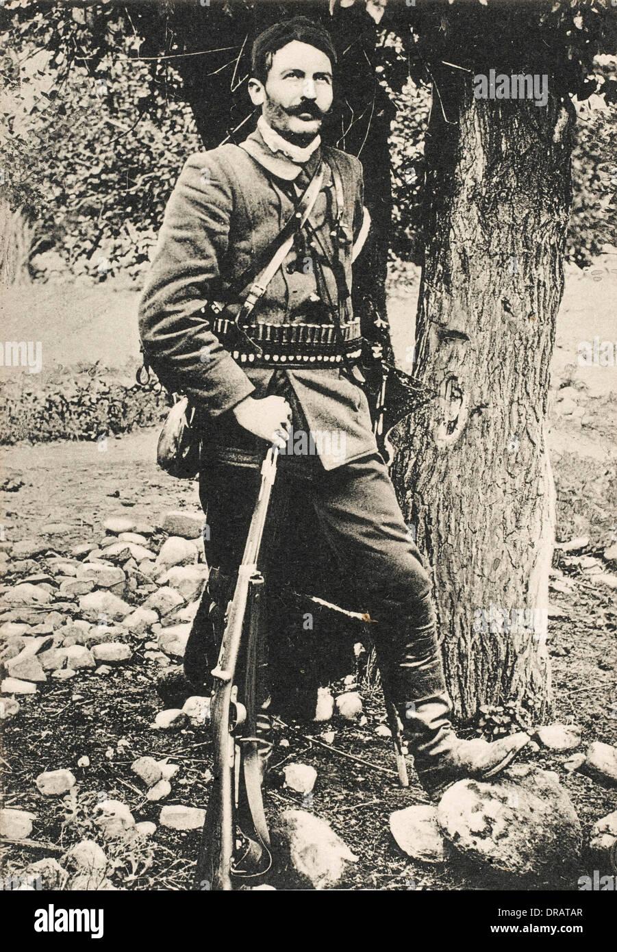 Greek Chieftain of the Morihovo Gromba - Stock Image