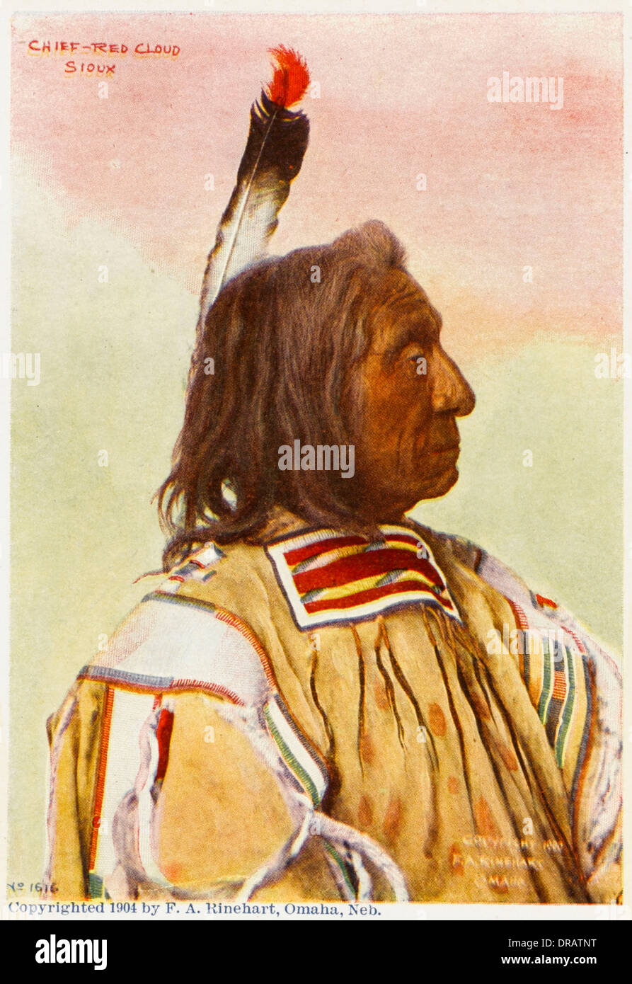 Chief Red Cloud - Sioux Chieftain - Stock Image