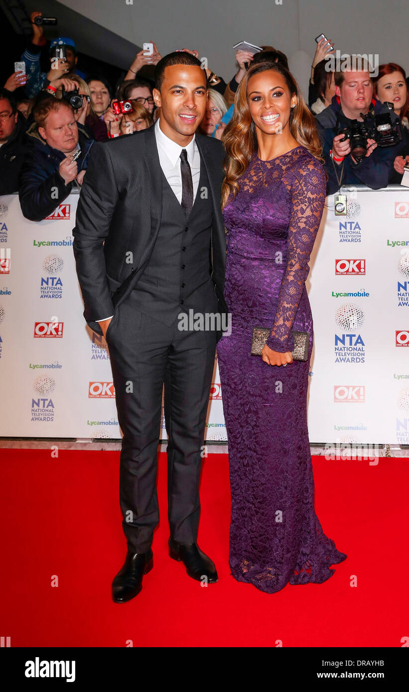 MARVIN HUMES & ROCHELLE HUMES NATIONAL TV AWARDS 2014 LONDON  ENGLAND UK 22 January 2014 - Stock Image