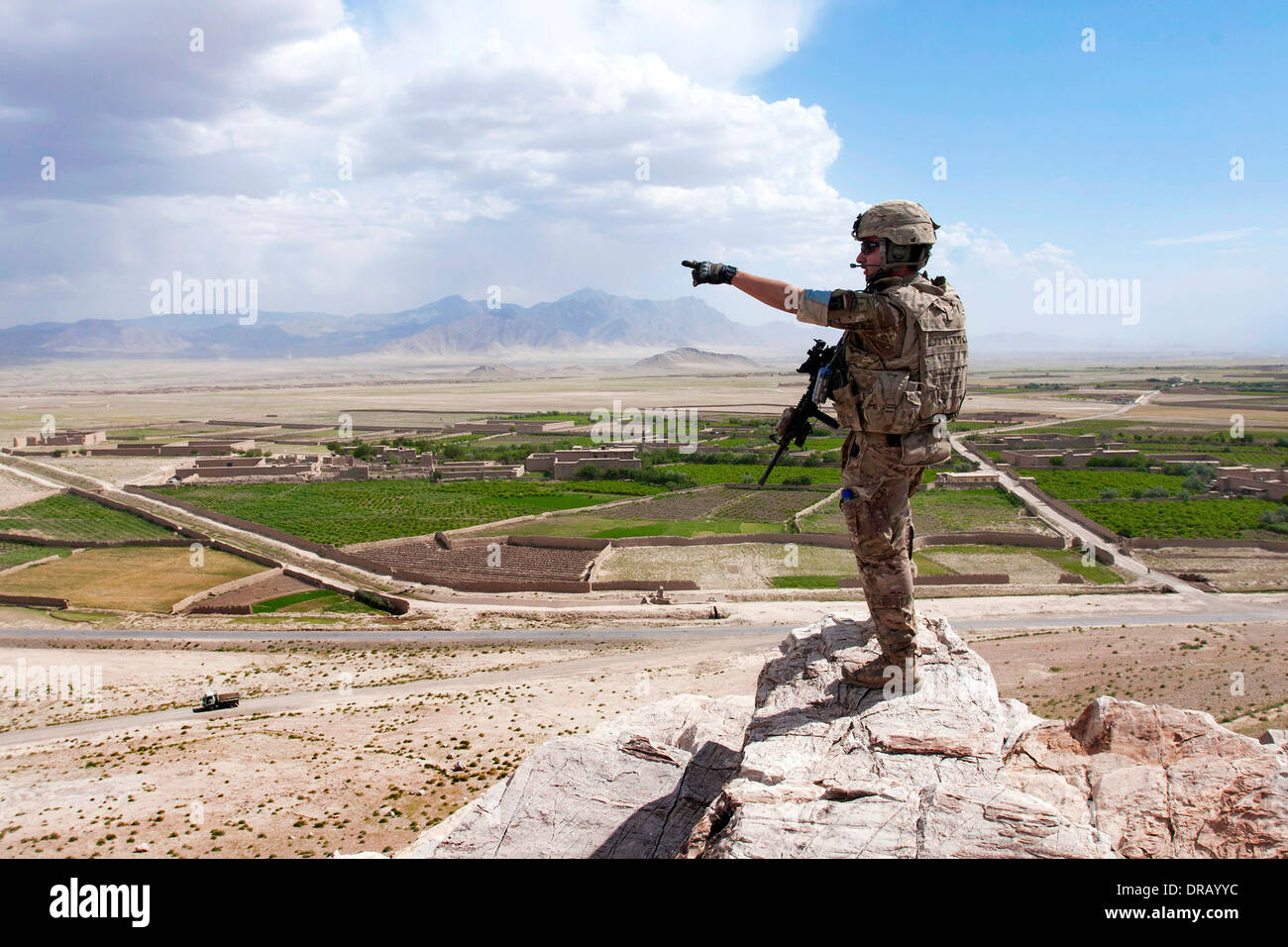 U.S. Army soldier in Afghanistan - Stock Image
